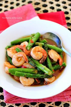 To Food with Love: Asparagus and Prawn Stir-fry
