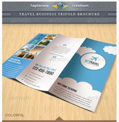 Travel Business Trifold Brochure By Saptarang Via Behance
