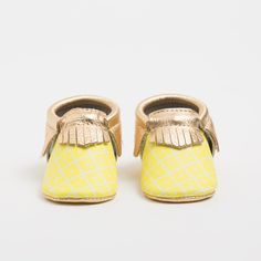 Pineapple Print Moccasins for Kids, Babies, Handmade Moccasins | Freshly Picked Moccasins