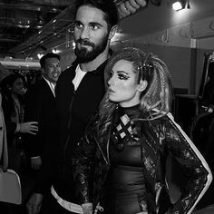 """WWE Superstars Seth Rollins (Colby Lopez) with his girlfriend """"The Man"""" Becky Lynch (Rebecca Quin) preparing backstage at a WWE live event. Wwe Seth Rollins, Seth Freakin Rollins, Becky Lynch, Wwe Pictures, Wwe Photos, Becky Wwe, Wwe Live Events, Wrestlemania 35, Wwe Couples"""