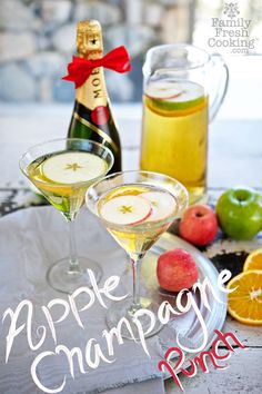 Champagne Apple Punch | The PERFECT Party Cocktail | MarlaMeridith.com