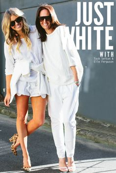 Just white: They All Hate Us on how to wear the white trend.