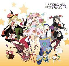 Mami Tomoe, Kyoko Sakura, Madoka Kaname, Sayaka Miki and Homura Akemi | Mahou Shoujo Madoka Magica