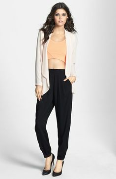 Leith Pleat Front Tapered Pants | Nordstrom