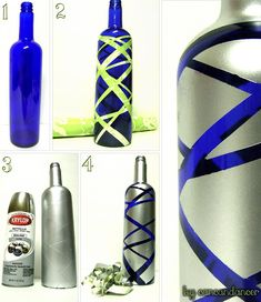 Several ways to recycle glass bottles