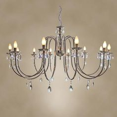 Beautiful hanging crystal chandelier from The Progress Group