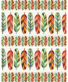 Feathers by Allison Cole: great feather print by a favorite illustrator of mine.
