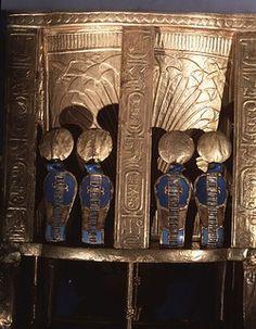 #91. Back of the Golden Throne of Tutankhamun. (Replica)