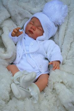 BUTTERFLY BABIES STUNNING REBORN BABY GIRL DOLL SOFIA IN WHITE SPANISH SET