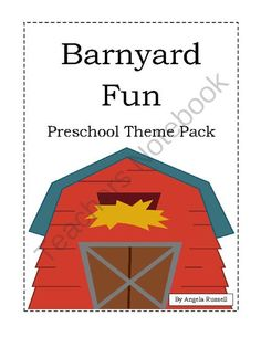 Barnyard Fun- Preschool Theme Pack from Angie's  Page  For Young Learners on TeachersNotebook.com -  (18 pages)  - Farm Activities