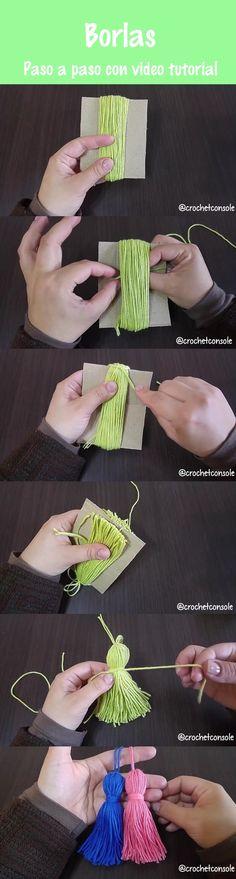 20 Ideas De Pompones Borlas Y Flecos Pompones Pompones De Lana Borlas