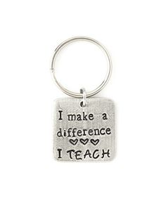 Look what I found on #zulily! Pewter 'I Make a Difference' Key Chain #zulilyfinds