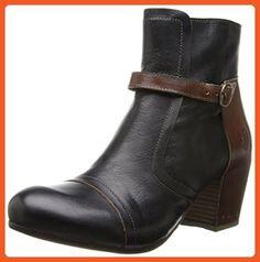 FLY London Women's Doe Boot,Black/Tan,39 EU/8 M US - Boots for women (*Amazon Partner-Link)