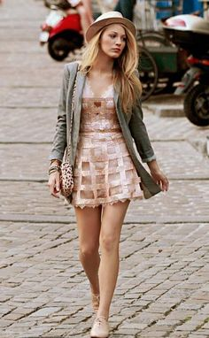 Blake Lively in neutrals.