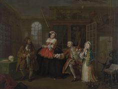 """""""Marriage-a-la-Mode: 3, The Inspection"""", William Hogarth, ca. 1743; National Gallery NG115"""
