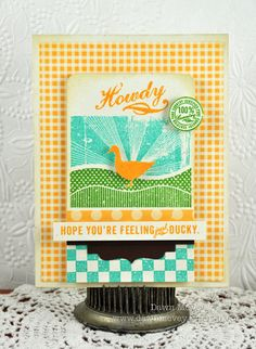 On The Farm Howdy Card by Dawn McVey for Papertrey Ink (May 2012)