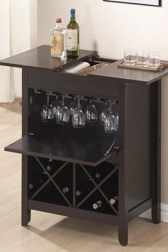 Tuscany Brown Modern Dry Bar and Wine Cabinet - Dark Brown by W.I. Modern on @HauteLook
