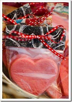 homemade play dough treat bags! Cute, easy, cheap.