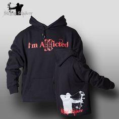 String Stalker Bow Hunting Addicted Hoodie Sweatshirt - Black