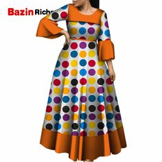 2019 Dashiki African Dresses For Women Colorful Daily Wedding Size S African Dresses For Women Ankle Length Dress African Fashion Ankara, Latest African Fashion Dresses, African Print Fashion, Short African Dresses, African Print Dresses, African Dresses Plus Size, African Clothes, African Print Dress Designs, Traditional African Clothing