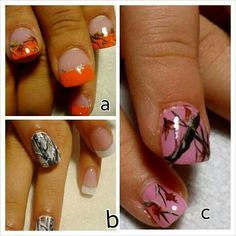 Country girl nails I want white camo ones!!