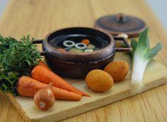 Mini food, polymer clay - Mini comida de arcilla polimérica