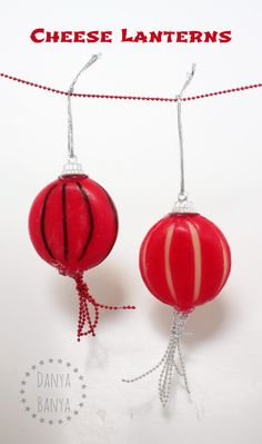 Cheese Lanterns for a healthy Chinese New Year snack for kids. ~ Danya Banya