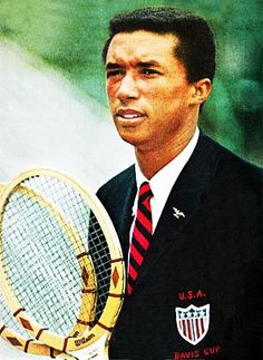was an American World No. He won three Grand Slam titles, ranking him among the best tennis players from the United States Arthur Ashe, Tennis Legends, Sport Icon, Tennis Stars, People Of Interest, Sports Figures, Play Tennis, World Of Sports, Sports Stars