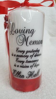 In loving memory from welshwaxesandcrafts.co.uk