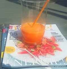 Ingrédients 1 orange 1 carotte 3 cm de curcuma frais ou 1 c. à café de curcuma en poudre. une pincée de poivre noir fraîchement moulu Passer tous les ingrédients à la centrifugeuses. A déguster au…