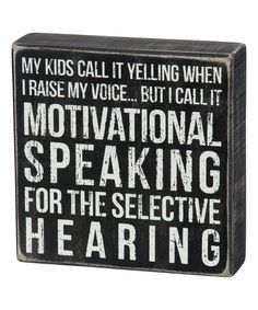 Another great find on #zulily! 'Raise My Voice' Box Sign by Primitives by Kathy #zulilyfinds