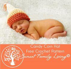 Candy Corn Hat | Free Crochet Pattern | Halloween Patterns