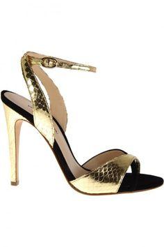 Sandali dorati e neri