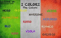 Italian lesson - vocabulary - the colors