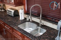 tiled kitchen sink cranberry brown granite countertops back to counter tops 2790