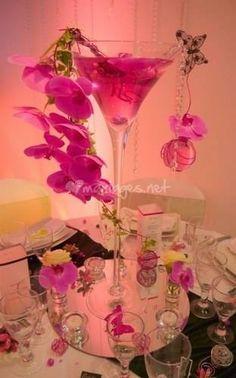 Vase Martini orchidée de Un jour un événement   Photo 1