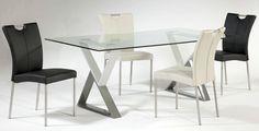 Rectangular Glass Dining Room Set Whitney-Dt