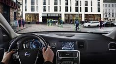 Volvo unveils scanner that will automatically slam on the brakes when it detects a cyclist wobbling into the car's path | Mail Online