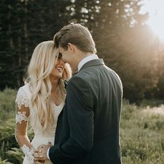 modest wedding dress with long sleeves from alta moda. -- (modest bridal gown)  Photo by Ashley Rae