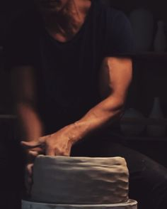 Here is a technique that may be new to some of you.  Pounding and clapping the clay can be an effective way to starting a large vessel.  Here is a large bowl taking form.  @tortus_copenhagen  Music by unknown artist.  #tortus #copenhagen #ceramics #stoneware #porcelain #ceramic #pottery #handmade #design #art #denmark