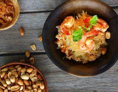 Pomelo-Salat mit Erdnüssen und Shrimps