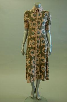 Ossie Clark w/ Celia Birtwell print shirt dress