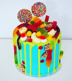 Petite Allens lollies drip cake! Can be made in larger sizes upon request