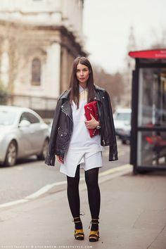 Irina rockin it in London. #IrinaLakicevic #APortablePackage