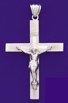 MENS X Large Crucifix Cross Pendant 925 by ForsgateJewelry