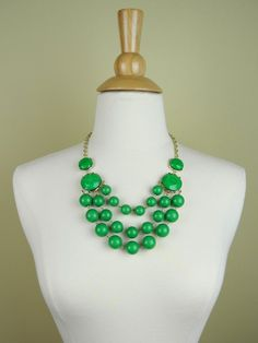 Green Beaded Statement Necklace - $25.00 : FashionCupcake, Designer Clothing, Accessories, and Gifts