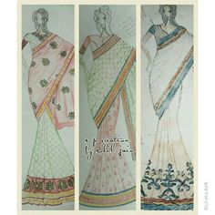Sarees islluration by s.p.creation , sohil jain