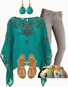 Like if you'd wear these chic outfits! Chic Outfits, Pretty Outfits, Kaftan Tops, Look Fashion, Womens Fashion, Casual Chic, Plus Size Fashion, Ideias Fashion, Fashion Dresses