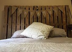 Rustic pallet headboard. Not2shabby Furniture Catalogue