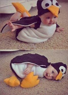 Bebês // Inspiração para foto // Fantasia // Pinguim // *-*